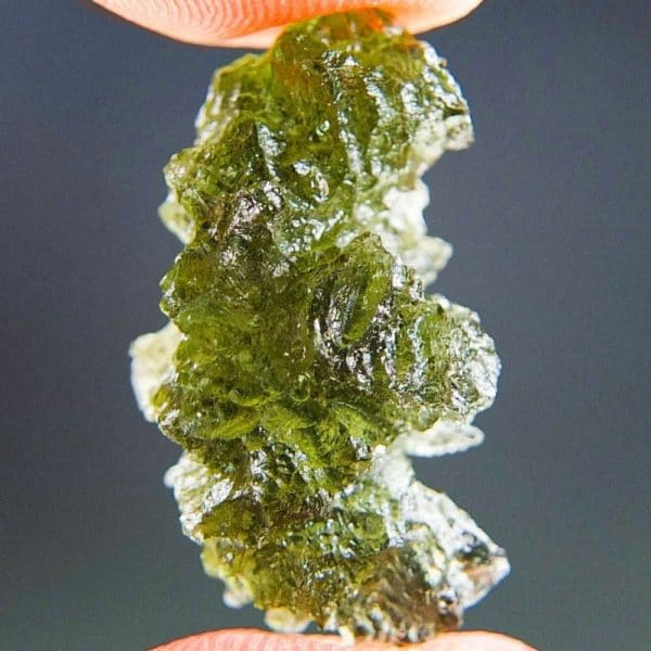 Moldavite In Excellent Fine Shape Basednice With Certificate Of Authenticity (2.53grams)1