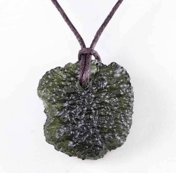 Natural Raw Moldavite Drilled Pendant (6.2grams)