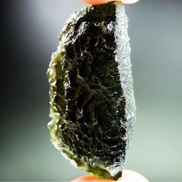 Perfect Fine Shape - Investment Moldavite with Certification of Authenticity (22.83grams)