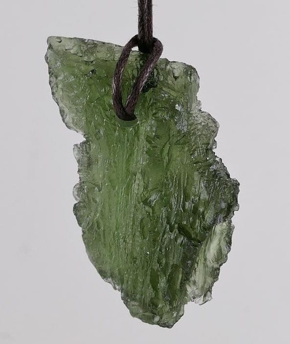 Rare Natural Raw Moldavite Pendant with Certificate of Authenticity (10.3grams)