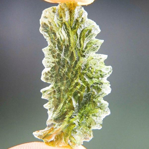 Unique Shape Moldavite From Basednice With Certificate Of Authenticity (2.61grams)