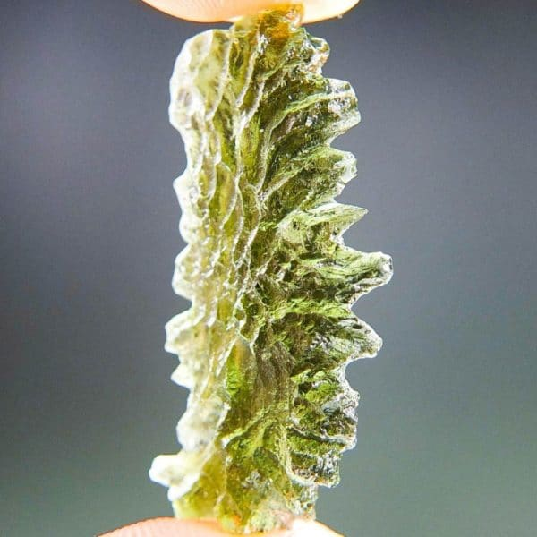 Unique Shape Moldavite From Basednice With Certificate Of Authenticity (2.61grams)2