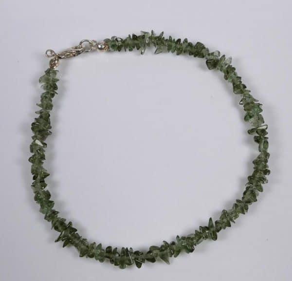 Unique Tumbled Chip Moldavite Bracelet