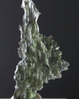 Sharp Shape High Quality Moldavite from Besednice with Certificate of Authenticity (1.51grams)