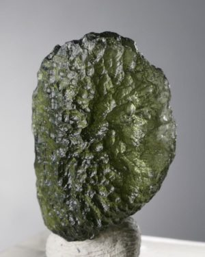 Rare Fine Jewelry Shape Moldavite with Certificate of Authenticity (3.8grams)