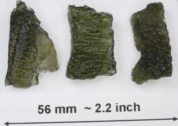 Unique Natural Shapes Moldavite Specimens- 3pcs. (7.4grams)