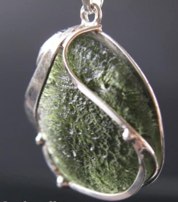 Original Fine Shape Moldavite Pendant (5.1grams)