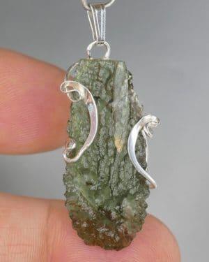 Moldavite Original Design Silver Pendant (3.6 grams)