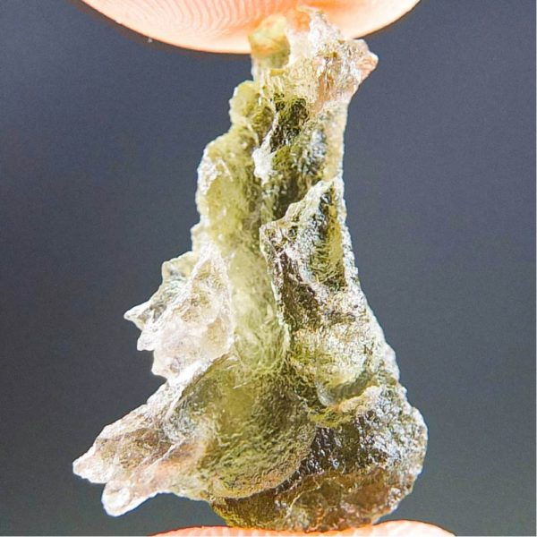 Quality A+/++ Brown Green Moldavite with Closed Bubble (1.47grams) 1