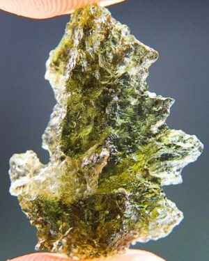 Magnificent Moldavite from Besednice with Certificate of Authenticity (1.48grams) 1