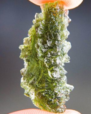 Quality A+/++ Bottle Green Moldavite from Besednice with Certificate of Authenticity (4.99grams) 1