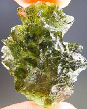 Olive Green Moldavite from Besednice with Certificate of Authenticity (4.6grams) 1