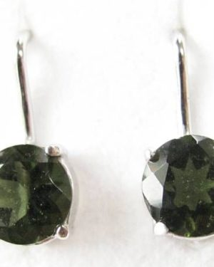 Authentic Moldavite Sterling Silver Earrings (2.0grams) 1