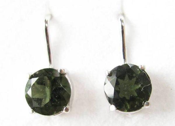 Authentic Moldavite Sterling Silver Earrings (2.0grams) 1
