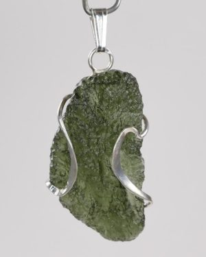Authentic Original Design Fine Shape Moldavite with Certificate of Authenticity (5.1grams) 1
