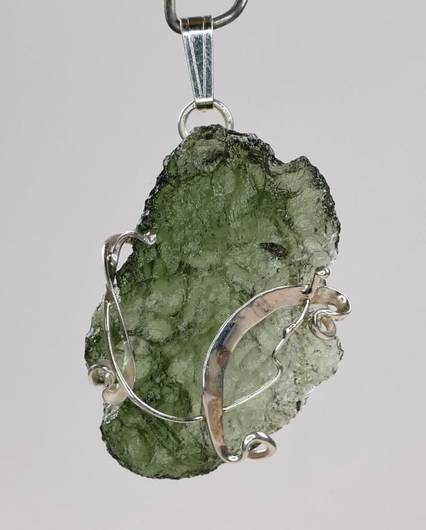 Natural Fine Shape Moldavite Pendant with Certificate of Authenticity (3.7grams) 1