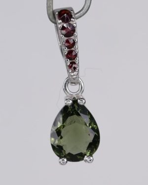 Elegant Faceted Moldavite Pendant With Certificate Of Authenticity (1.4grams) 1