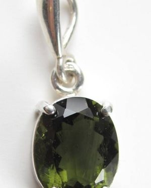 Authentic High Class Faceted Moldavite Pendant With Certificate Of Authenticity (1.5grams) 1