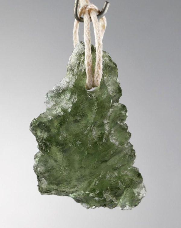 Unique Moldavite Pendant from Besednice (3.8grams) 1