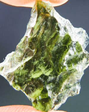Vibrant Green Moldavite with Certificate of Authenticity (1.86grams) 1