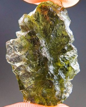 Natural Raw Moldavite from Besednice with Certificate of Authenticity (3.62grams) 1