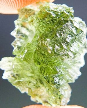 Green Natural Piece Moldavite from Besednice with Certificate of Authenticity (2.78grams) 1