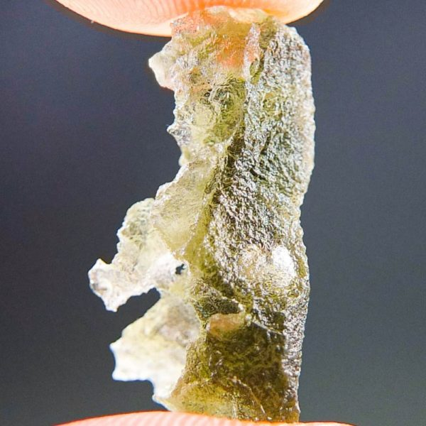 Quality A+/++ Brown Green Moldavite with Closed Bubble (1.47grams) 2