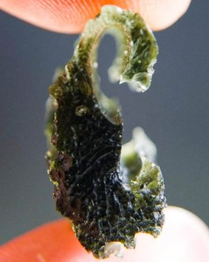 Rare Shape Olive Green Moldavite with Certificate of Authenticity (5.85grams) 2