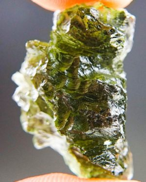 Olive Green Moldavite from Besednice with Certificate of Authenticity (4.6grams) 2