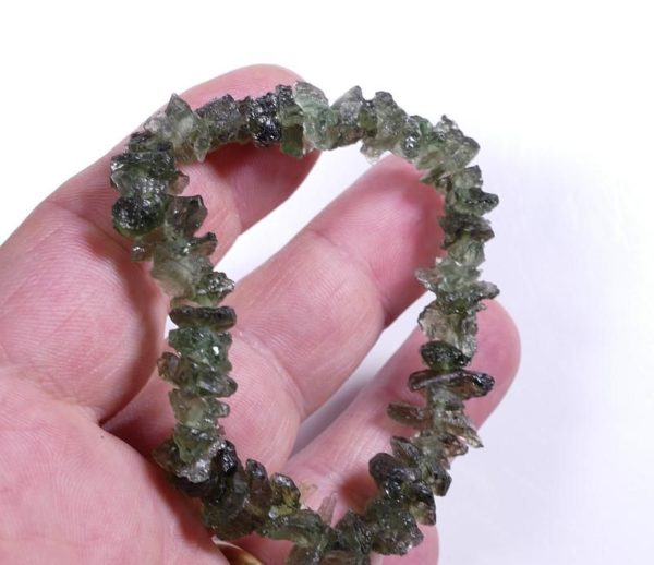 Stretch Unique Moldavite Bracelet (11.3grams) 2