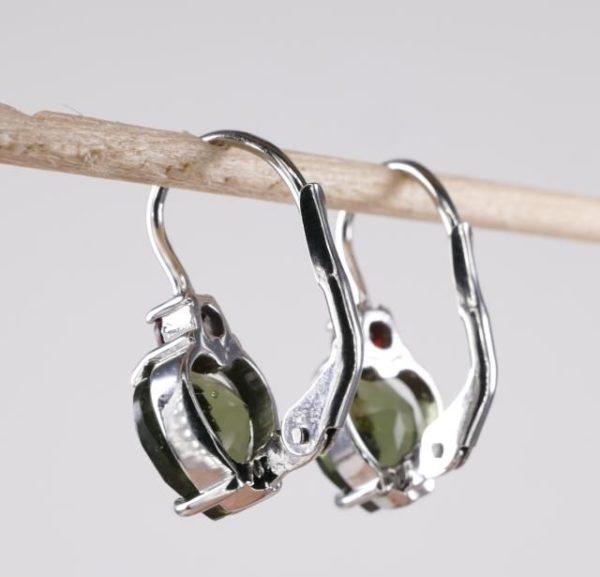 Heart Shape High Quality Grade Faceted Moldavite Earrings (2.5grams) 2