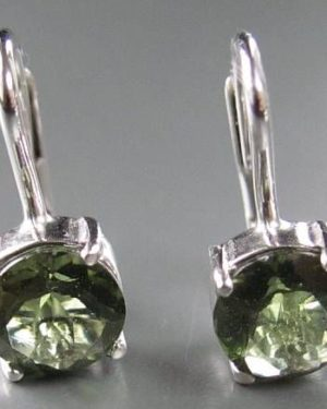 Authentic Moldavite Sterling Silver Earrings (2.0grams) 2