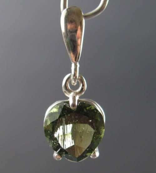 Heart Shape Faceted Moldivate (1.1grams) 2