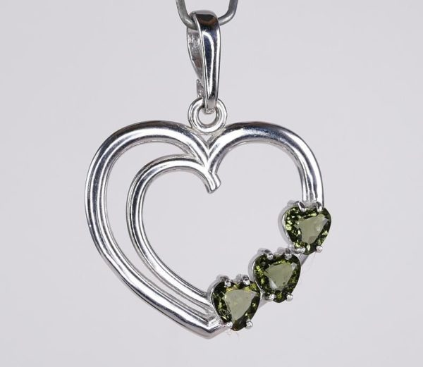 Multiple Heart Cut Shape Moldavite with Certificate of Authenticity (4.4grams) 2