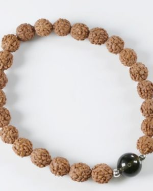 Authentic Rudraksha Moldavite Bead Bracelet (6grams) 2