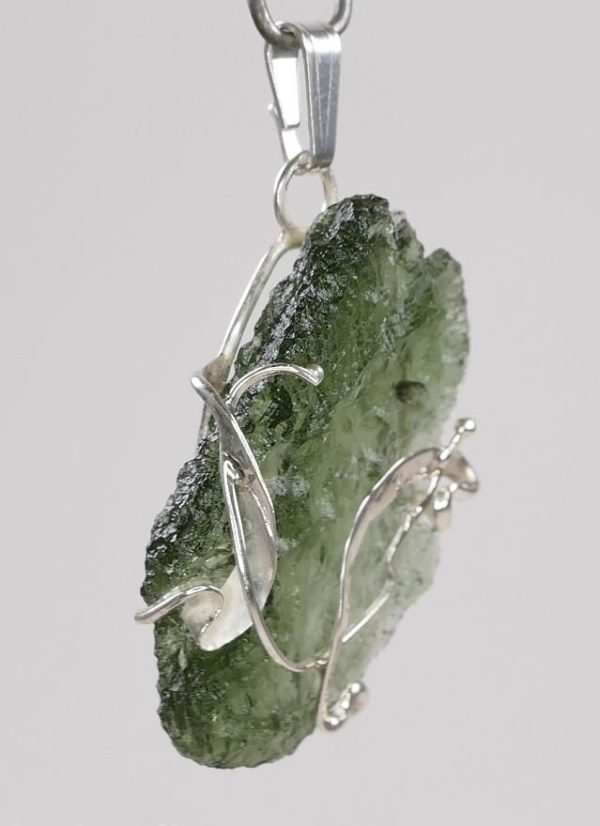 Natural Fine Shape Moldavite Pendant with Certificate of Authenticity (3.7grams) 2