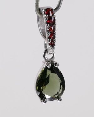 Elegant Faceted Moldavite Pendant With Certificate Of Authenticity (1.4grams) 2