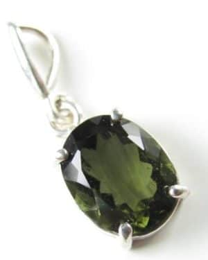 Authentic High Class Faceted Moldavite Pendant With Certificate Of Authenticity (1.5grams) 2