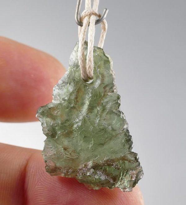 Unique Moldavite Pendant from Besednice (3.8grams) 2