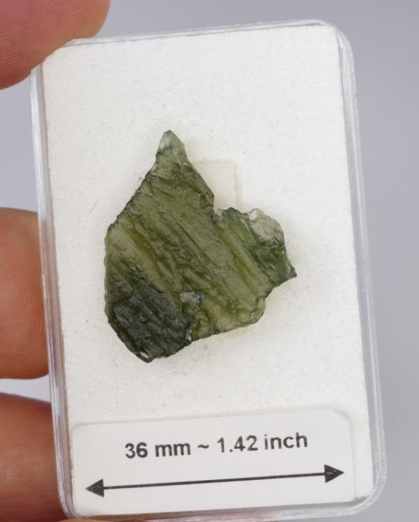 Unique Moldavite with Certificate of Authenticity (2.4grams) 2
