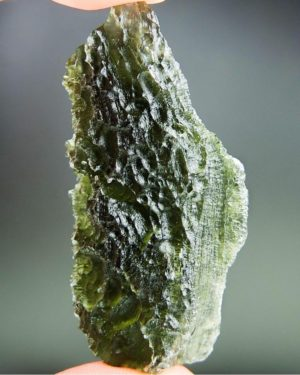 "Quality A+ 2.4"" Long Moldavite with Certificate of Authenticity (21.15grams) 2"