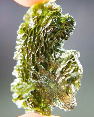 Unique Investment Glossy Moldavite with Certificate of Authenticity (7.65grams) 2
