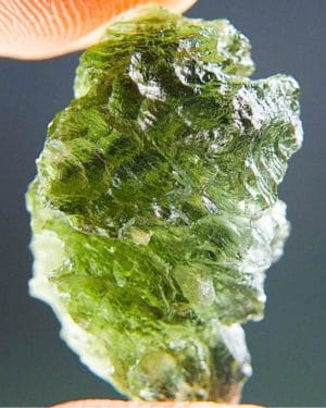 Green Natural Piece Moldavite from Besednice with Certificate of Authenticity (2.78grams) 2