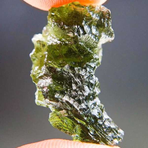 Olive Green Moldavite from Besednice with Certificate of Authenticity (4.6grams) 3