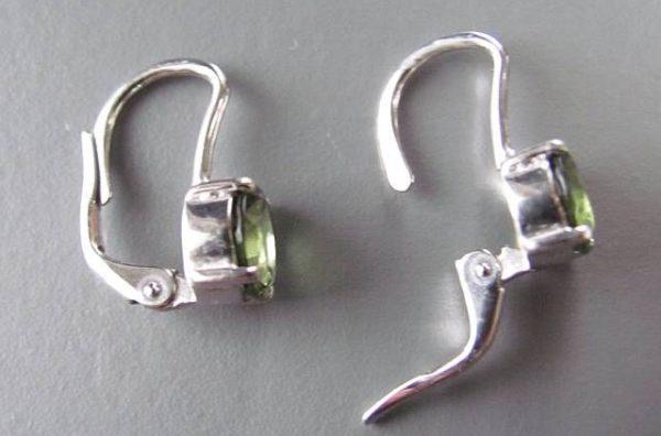 Authentic Moldavite Sterling Silver Earrings (2.0grams) 3