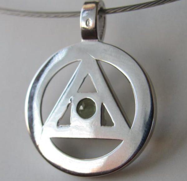 Moldavite Freemasonic Symbol Pendant (4.7grams) 3