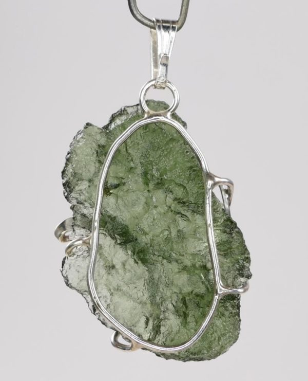 Natural Fine Shape Moldavite Pendant with Certificate of Authenticity (3.7grams) 3
