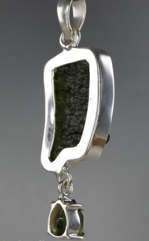 Natural Raw Faceted Moldavite Pendant With Certificate Of Authenticity (5.9grams) 3