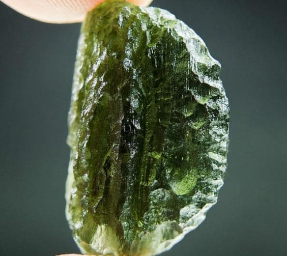 Natural Piece Moldavite with Rest of Clay (5.62grams) 3