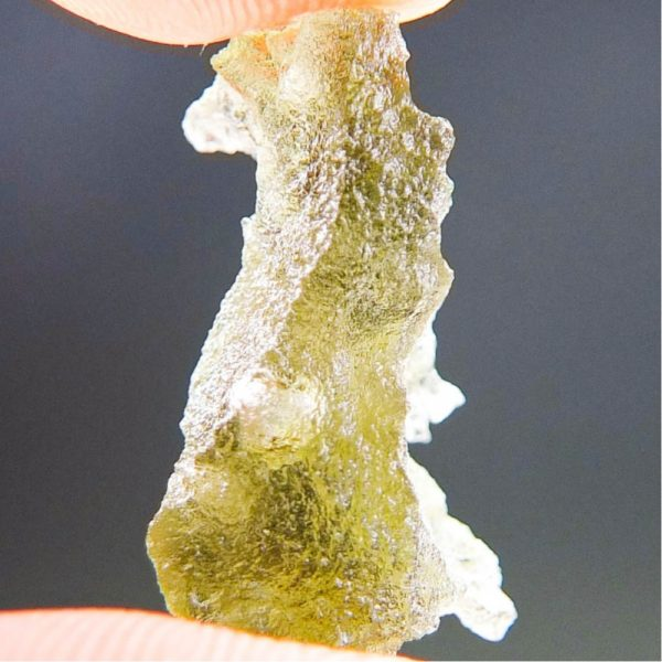 Quality A+/++ Brown Green Moldavite with Closed Bubble (1.47grams) 3